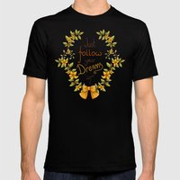Flower laurel Mens Fitted Tee Black SMALL