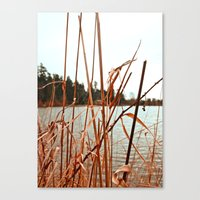 Canvas Print featuring Lakeside view by Vorona Photography