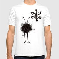 Evil Flower Bug Mens Fitted Tee White SMALL