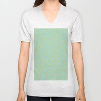 Yellow Pit on Mint /// www.pencilmeinstationery.com Unisex V-Neck