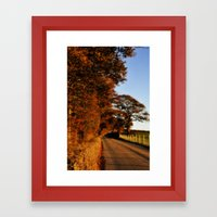 Road to somewhere Framed Art Print