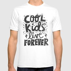 COOL KIDS LIVE FOREVER SMALL Mens Fitted Tee White