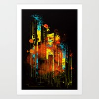 Technicity Lights Art Print