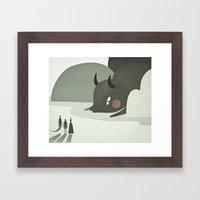 so they went to where the buffalos roamed. Framed Art Print