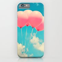 Pink Balloons on Deep Blue  iPhone 6 Slim Case