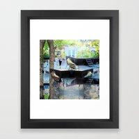 Summer space, smelting selves, simmer shimmers. [extra, 10] Framed Art Print