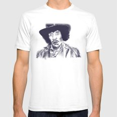 Electric Eclectic White SMALL Mens Fitted Tee