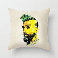 GREEN BEARD Throw Pillow