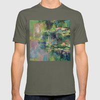 Water Lilies Mens Fitted Tee Lieutenant SMALL