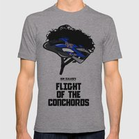 Flight of the Conchords - Hair Helmet Mens Fitted Tee Athletic Grey SMALL