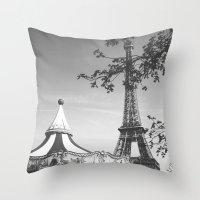 Spring Time In Paris Throw Pillow