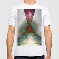 Lost In Space Mens Fitted Tee Ash Grey SMALL