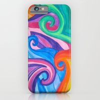 Colorful Swirls iPhone 6 Slim Case