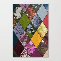 Diamond Flower Collage Canvas Print