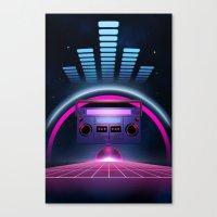 Boombox: Echos of Tomorrow Canvas Print