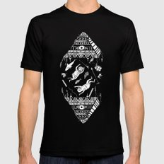 On how the mystical levitation of divers are induced by floating pyramids Black SMALL Mens Fitted Tee