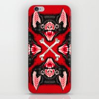 Vampire Bat Face Geometr… iPhone & iPod Skin