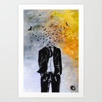Man-Birds Art Print