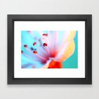 Blossom in Blue Framed Art Print