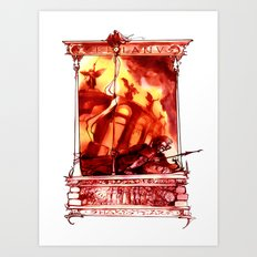 Coriolanus Shakespeare Illustration Art Print