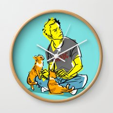 cas n' cats Wall Clock