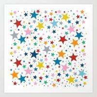 Stars Multi Art Print