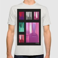 Sunset Silhouette  Mens Fitted Tee Silver SMALL