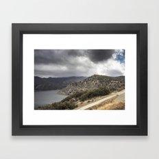 Incoming California Storm Framed Art Print