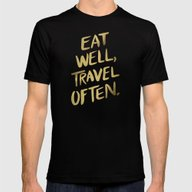 T-shirt featuring Eat Well Travel Often On… by Cat Coquillette