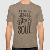 I LIKE MY COFFEE BLACK L… Mens Fitted Tee Tri-Coffee SMALL