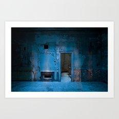 Blue Bank Art Print
