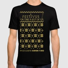 A Festivus for the Rest of Us. Black SMALL Mens Fitted Tee