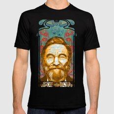 Robin Williams Tribute Art Nouveau / Geek Poster / Fine Art Print Tribute by Tom Ryan's Studio Mens Fitted Tee SMALL Black