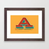 A is for... Anything Framed Art Print