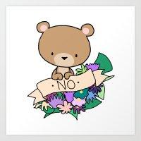 Brown Bear, NO! Art Print