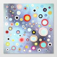 Nebulous Blue Abstract C… Canvas Print
