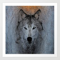 Art Print featuring Wolf Animal by Lo Coco Agostino