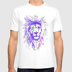 Lion Mens Fitted Tee SMALL White