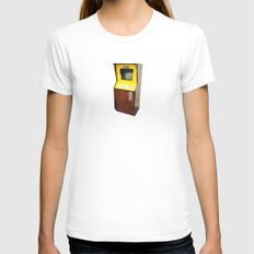 An arcade cabinet - coin-op ! Womens Fitted Tee White SMALL