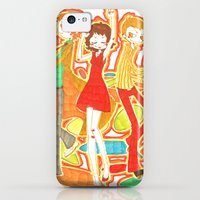 iPhone Cases featuring 70s Disco Fever by Little Cello