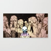 Rainbow Robo's Intergala… Canvas Print