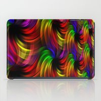 Rainbow Swirls iPad Case