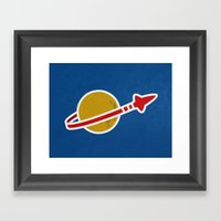 Blue Spaceman Framed Art Print