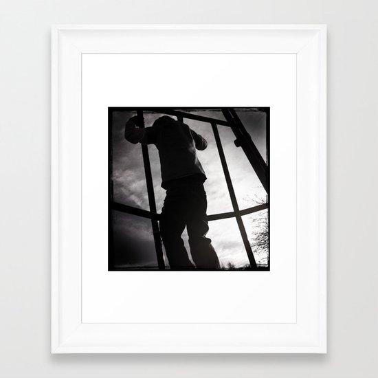 Climbing the Grid Framed Art Print