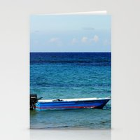 Blue Boat Red Stripe In … Stationery Cards