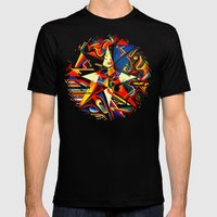 intermixing Color Star  Mens Fitted Tee Black SMALL