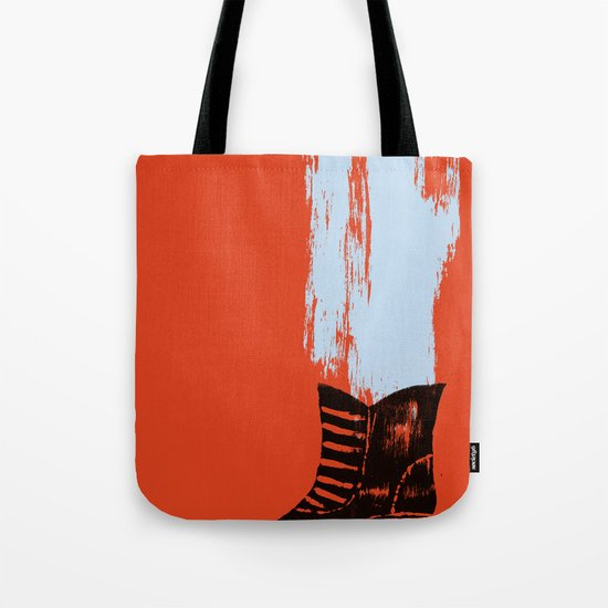 the boot goes on Tote Bag