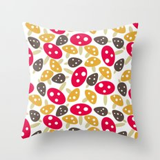 Mod Mushrooms Throw Pillow