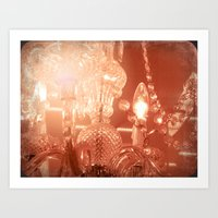 Cinnamon Chandelier Art Print