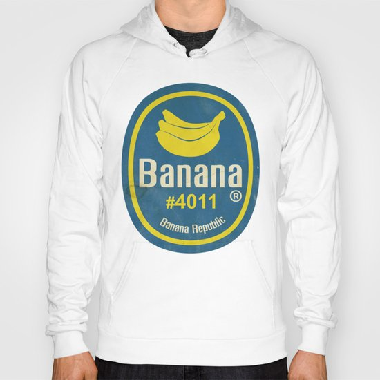 Banana Sticker On Blue Hoody